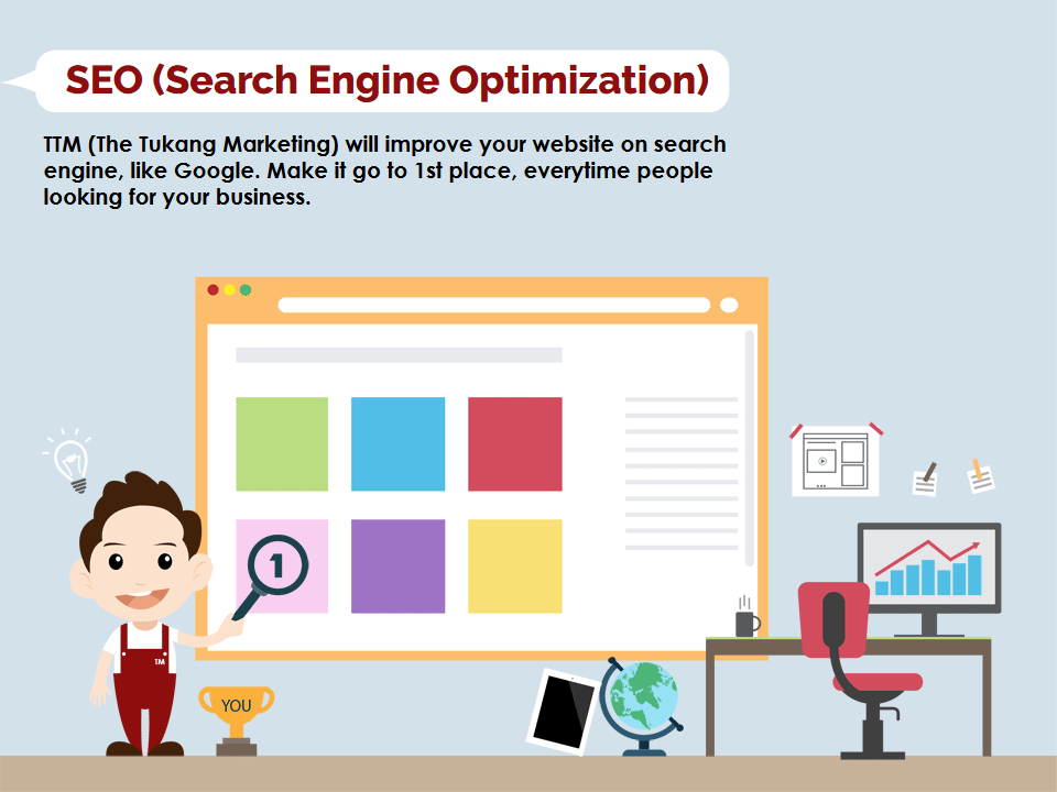search engine optimization, the tukang marketing will improve