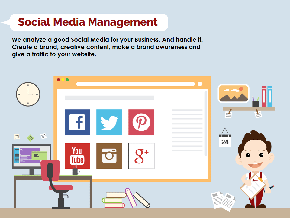 social media management - we analyze a good social media for your business.